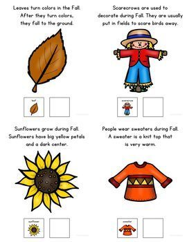 My Vocabulary Book: Fall Things Adapted Book