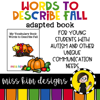 My Vocabulary Book: Words to Describe Fall Adapted Book