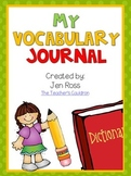 My Vocabulary Journal {Draw and Write}