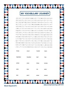 My Vocabulary Journey Booklet
