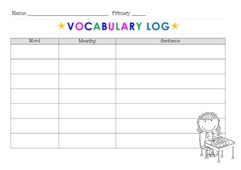 My Vocabulary Log