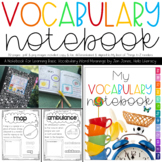 My Vocabulary Notebook: Words from A-Z for Emerging Word Learners