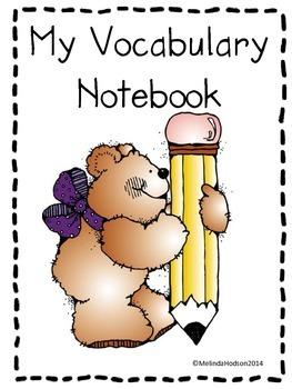 My Vocabulary Notebook/My Dictionary
