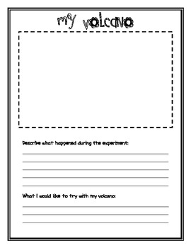 my volcano worksheet by sssteaching teachers pay teachers. Black Bedroom Furniture Sets. Home Design Ideas
