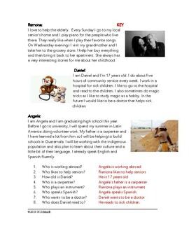 My Volunteer Work Easy English Reading (ESL / EFL / ELL)