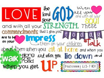 Deuteronomy 6:5-7 Scripture {Simplified Teaching}