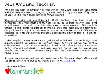 My Vowel Book {Simplified Teaching}