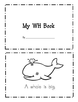 """My WH Book"" practicing the Digraph WH"