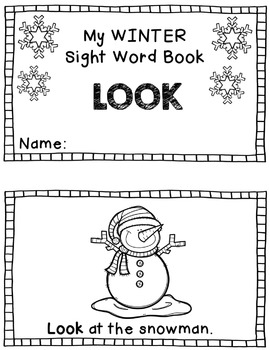 My WINTER Sight Words Book: LOOK