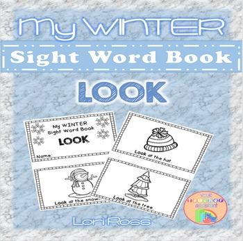 My WINTER Sight Words Book: LOOK