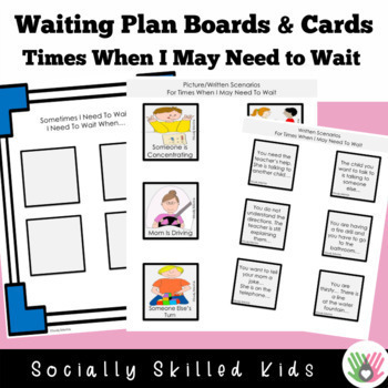 WAITING PLAN AND STRATEGIES  Activities and Social Stories {For K-5th Grade}