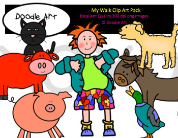 My Walk Clipart Pack
