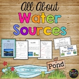 All About WATER SOURCES Book Game Posters and Worksheets Rivers Lakes Oceans