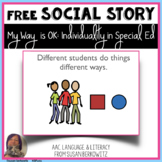 My Way is OK Social Story for Special Education Inclusion Students
