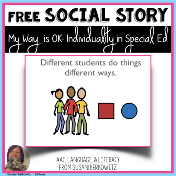 My Way is OK Social Story for Inclusion Students