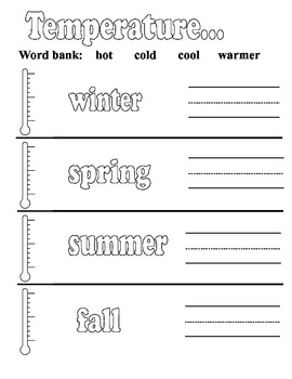 My Weather Book- Kindergarten and First Grade Aligns with Science & Common Core
