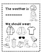 My Weather Booklet