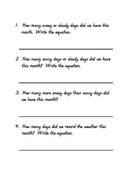 My Weather Graph Book - Printable