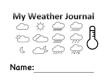 My weather journal by kindergarten kids rock teachers pay teachers ccuart Choice Image