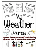 My Weather Journal (For Elementary Students)