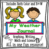 My Weather Journal - Graphing, Writing, and Earth Science, Back to School