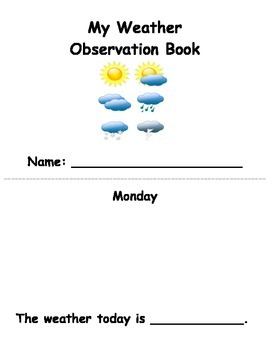 My Weather Observation Book - FREEBIE!