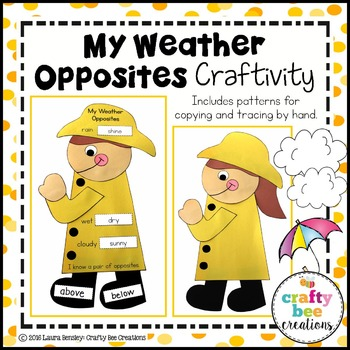 My Weather Opposites Craftivity