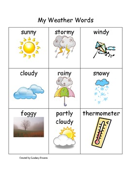 My Weather Words
