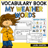 Weather Vocabulary Book | Distance Learning