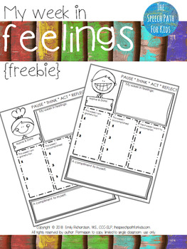 My Week In Feelings FREEBIE