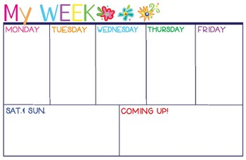 My Week at a Glance!