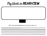 My Week in REARVIEW - Morning Work/Homework