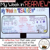 "FREE Reflection Activity: My Week in ""Rearview"""