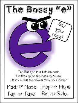 "My Week of Phonics: CVCe words feat. The Bossy ""e"""