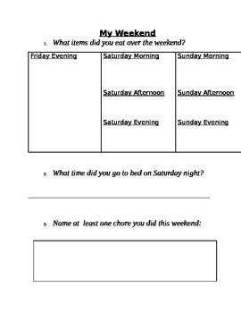 My Weekend-Homework