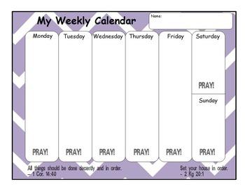 My Weekly Calendar