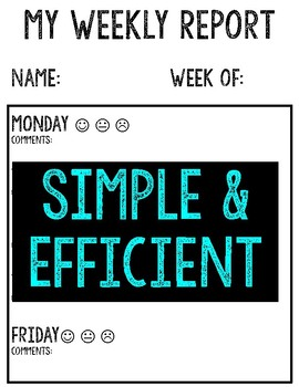 Weekly Behavior Sheet