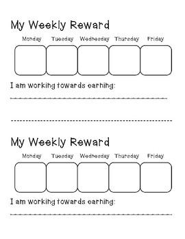 My Weekly Rewards Chart