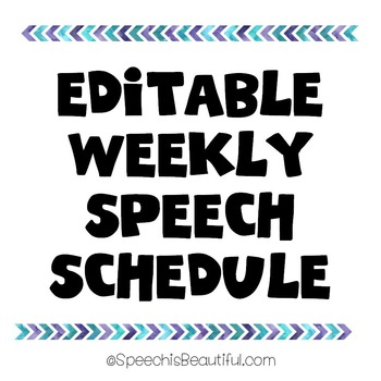 My Weekly Speech Therapy Schedule {FREEBIE}