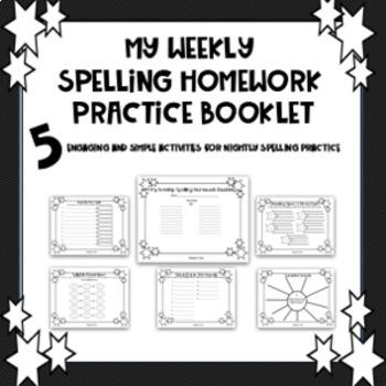 My Weekly Spelling Practice Homework Booklet
