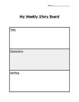 My Weekly Story Board