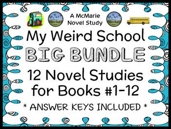 My Weird School BIG BUNDLE (Gutman) 12 Novel Studies : Books #1-12   (301 pages)