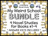 My Weird School BUNDLE (Dan Gutman) 4 Novel Studies : Books #1 - 4  (95 pages)
