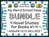 My Weird School Daze BUNDLE (Gutman) 4 Novel Studies : Books #1-4 (97 pages)