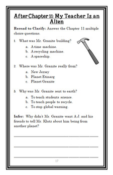 My Weird School Daze: Mr. Granite Is from Another Planet! (Gutman) Novel Study