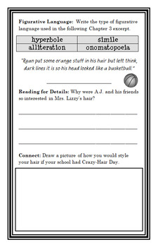 My Weird School Daze: Mrs. Lizzy Is Dizzy! (Gutman) Novel Study / Comprehension