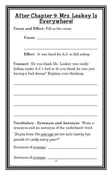 My Weird School Daze: Ms. Leakey Is Freaky! (Gutman) Novel Study / Comprehension