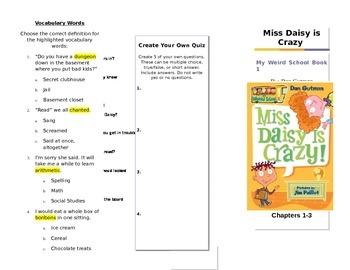 My Weird School  Miss Daisy is Crazy by Dan Gutman Trifolds