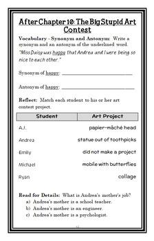 My Weird School: Ms. Hannah Is Bananas! (Dan Gutman) Novel Study / Comprehension