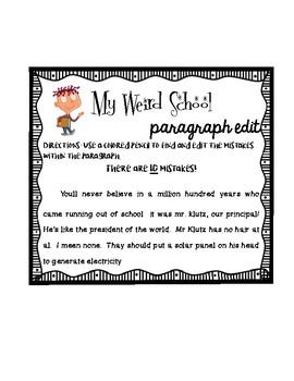 My Weird School Paragraph Edit